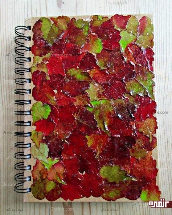 آموزش دکوپاژ پاییزی روی کاغذ با برگ