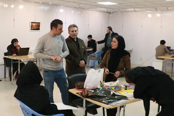 اجرای زنده طراحی پوسترچهل در قزوین برگزار گردید