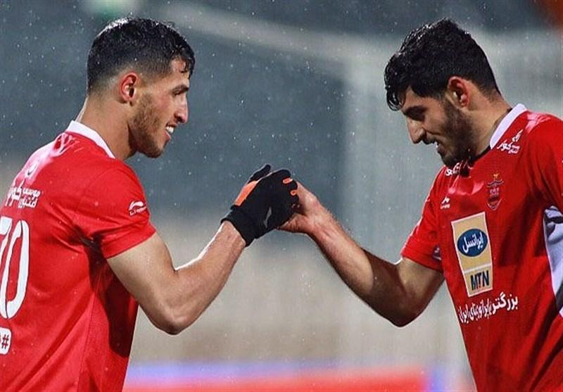لیگ برتر فوتبال، پرسپولیسی ها با برد به رختکن رفتند
