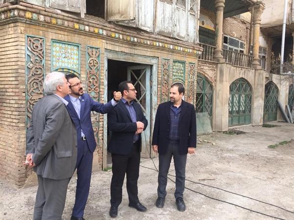 بازدید معاون میراث فرهنگی کشور و مدیرعامل صندوق احیا از بناهای تاریخی قزوین