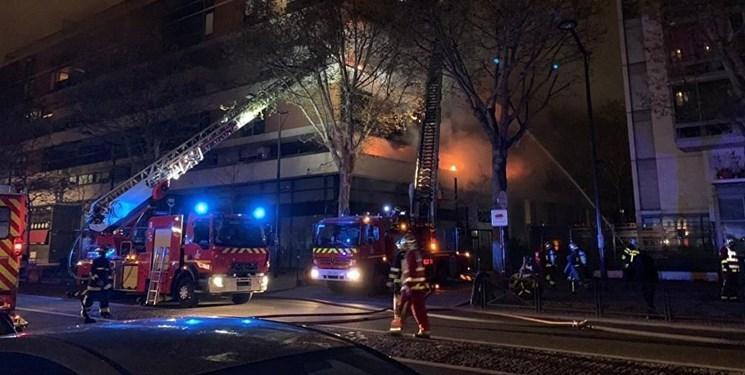 انفجار و آتش سوزی در پاریس