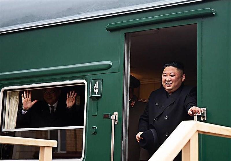 قطار زره پوش رهبر کره شمالی وارد خاک روسیه شد