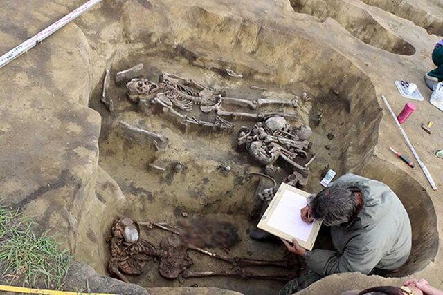 اکتشاف بقایای انسان های عصر برنز در روسیه