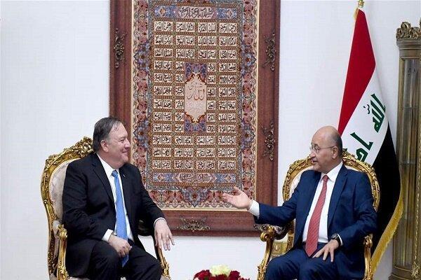رایزنی پمپئو و برهم صالح درباره حمله ترکیه به سوریه