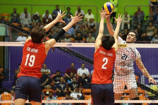 پیروزی والیبال ایران برابر کره جنوبی در نخستین میزبانی