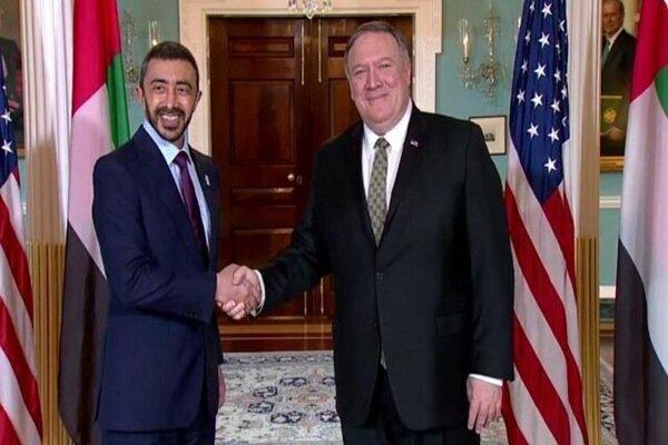 پمپئو با همتای اماراتی خود درباره ایران رایزنی کرد