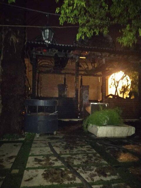 آتش سوزی در نارنجستان قوام شیراز
