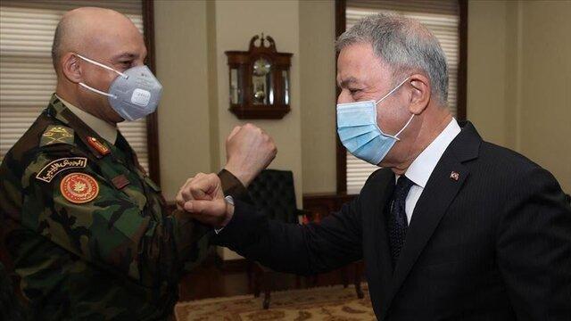ملاقات وزیر دفاع ترکیه با رئیس ستاد کل ارتش لیبی