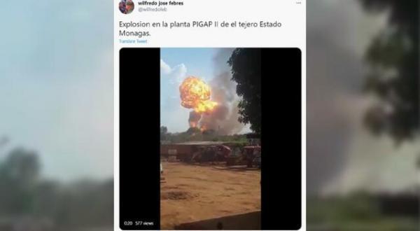 ونزوئلا، انفجار خط لوله گاز طبیعی را حمله تروریستی خواند