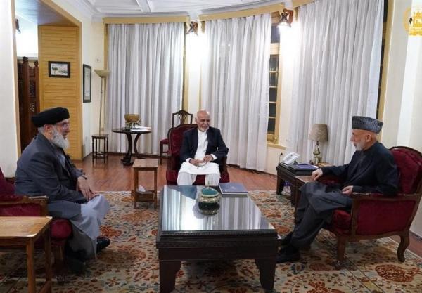 رئیس جمهور افغانستان به میزبانی کرزی با حکمتیار دیدار کرد